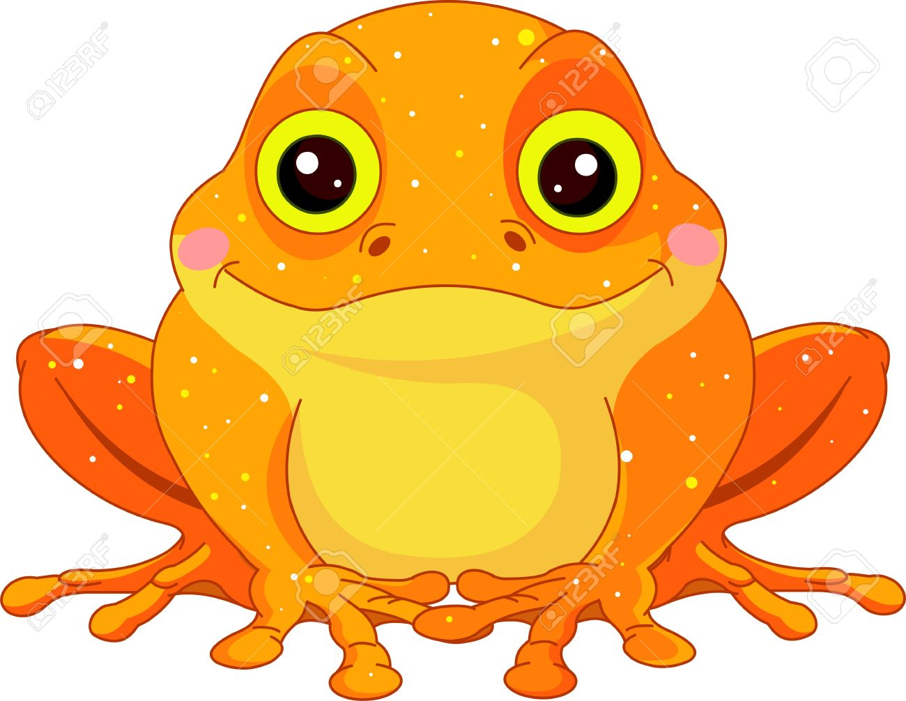 fun zoo illustration of cute golden toad royalty free cliparts