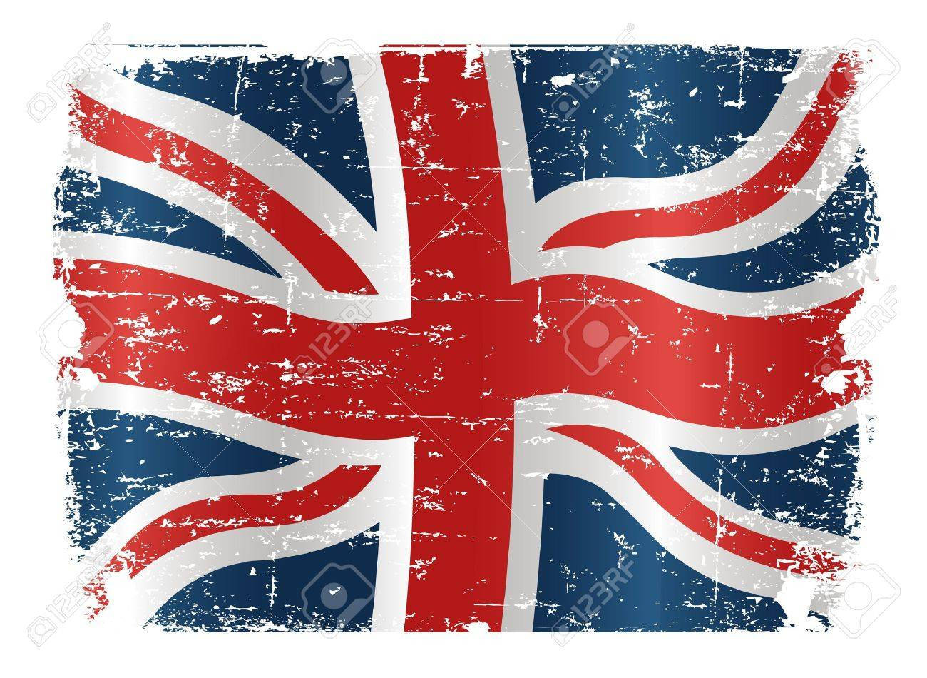 illustration of uk flag with a texture royalty free cliparts
