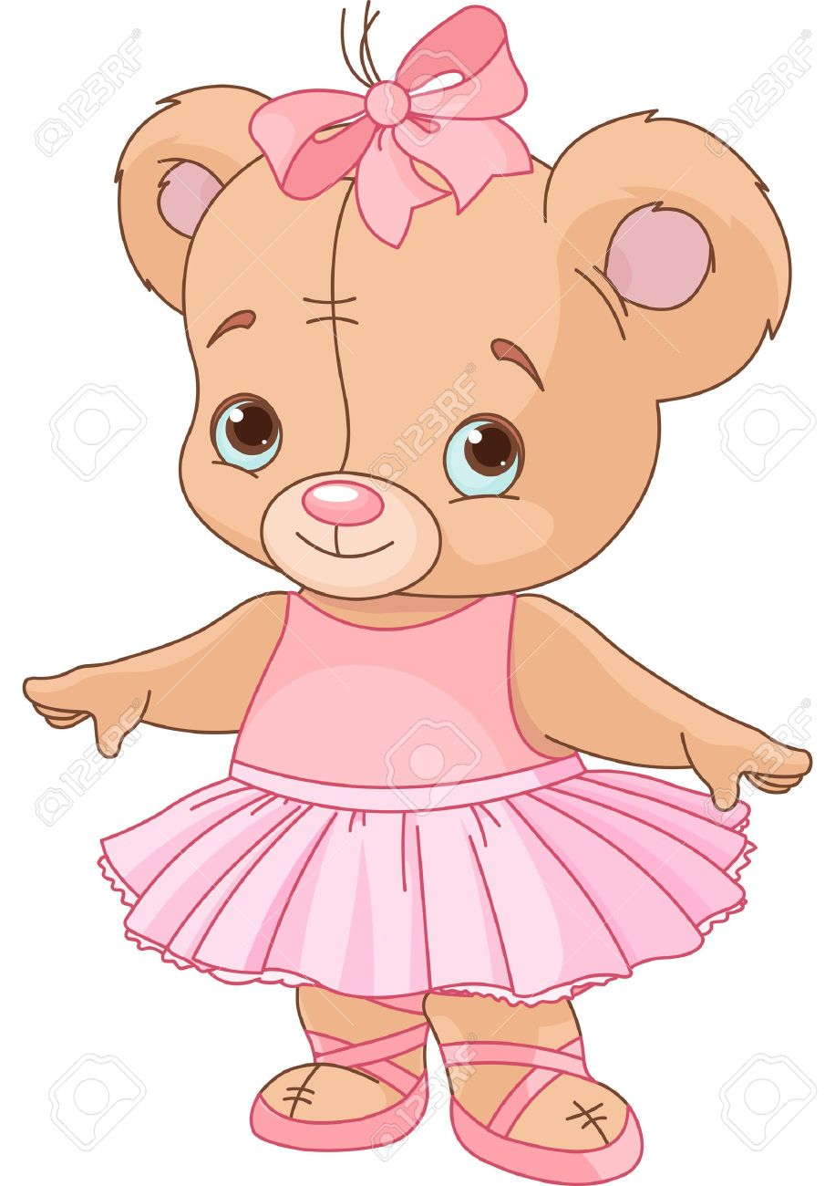 Very cute Teddy Bear Ballerina Stock Vector - 14782731