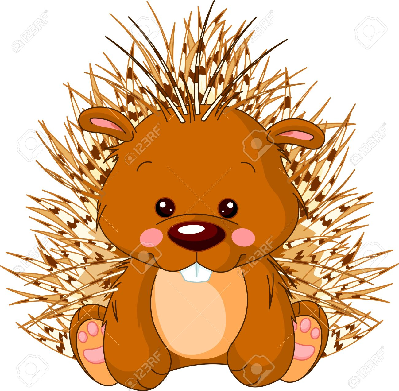 fun zoo illustration of cute porcupine royalty free cliparts rh 123rf com tree porcupine clipart porcupine image clipart