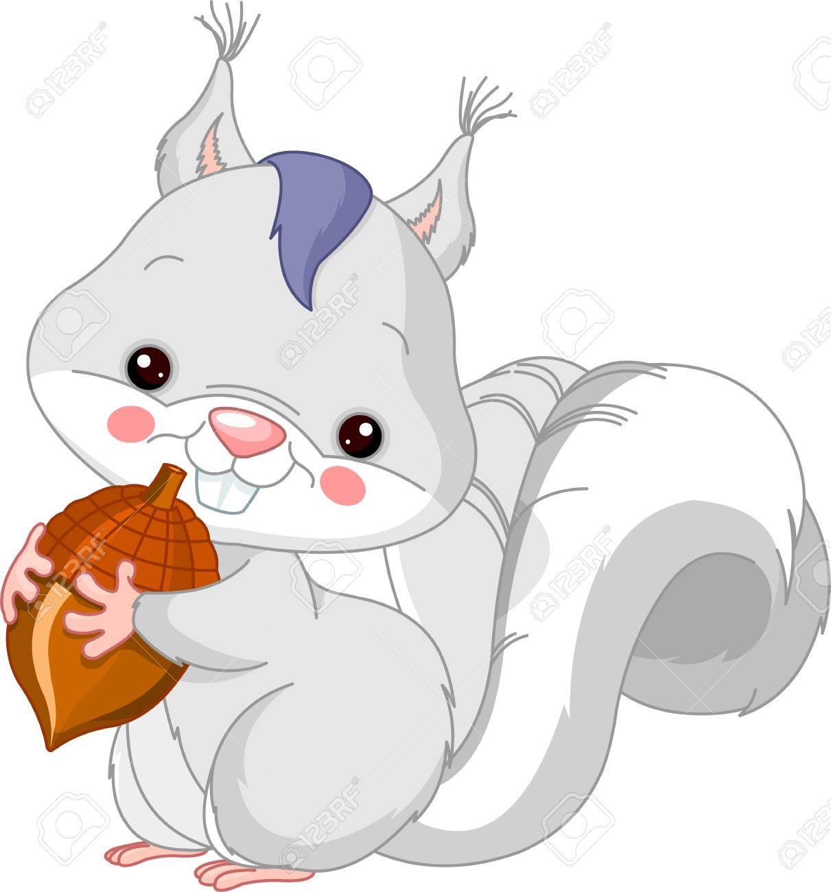 Fun zoo  Illustration of cute White squirrel Stock Vector - 14843049