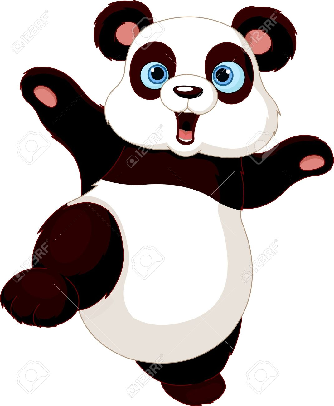 cute panda doing martial art royalty free cliparts vectors and rh 123rf com cute panda head clipart cute panda clipart images