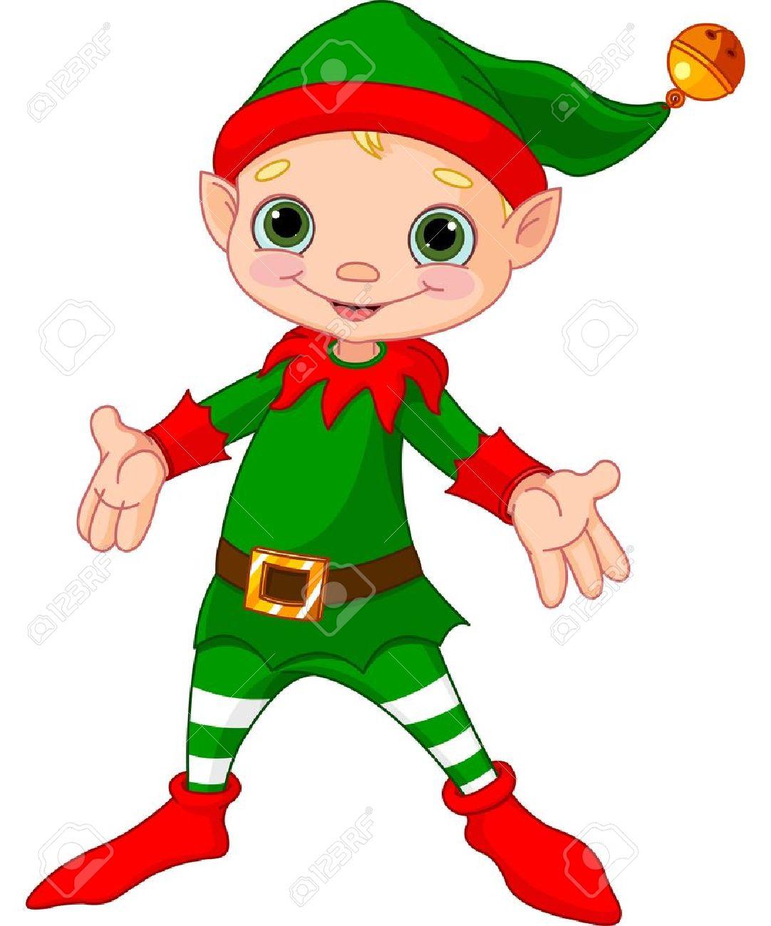 Illustration of happy Christmas Elf Stock Vector - 16373929