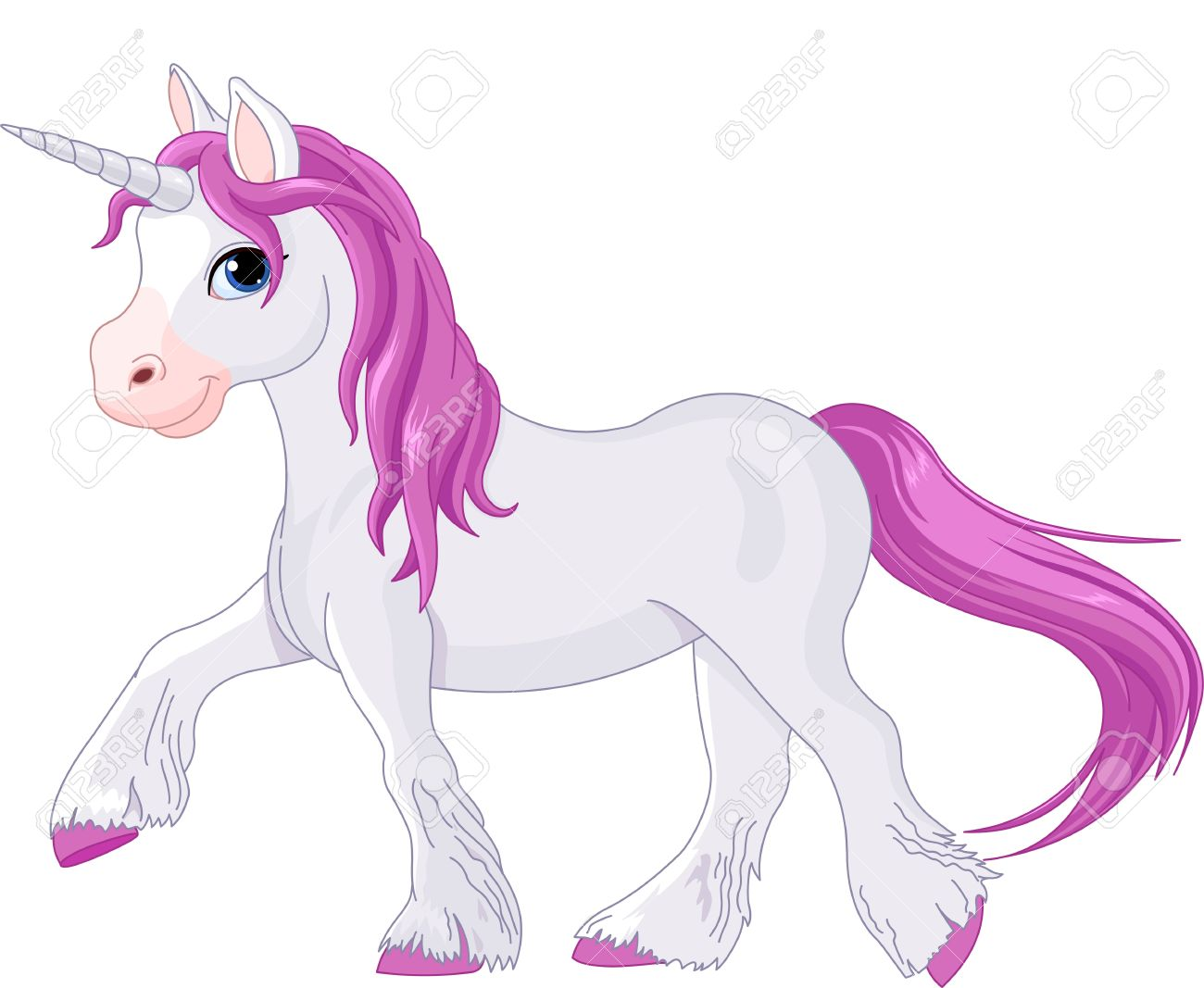 poney illustration de licorne va tranquillement