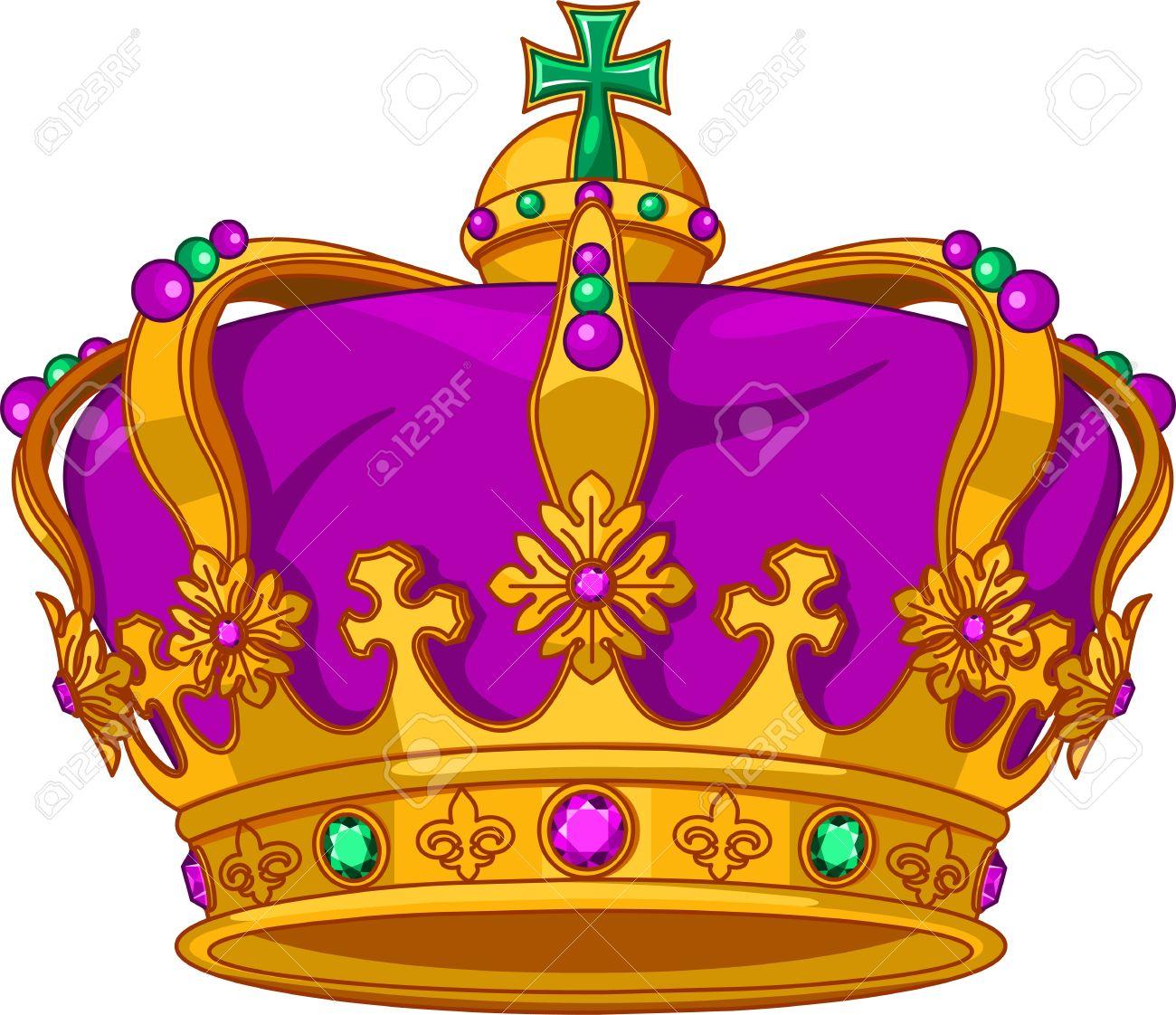 Beautiful Mardi Gras crown Stock Vector - 17154138