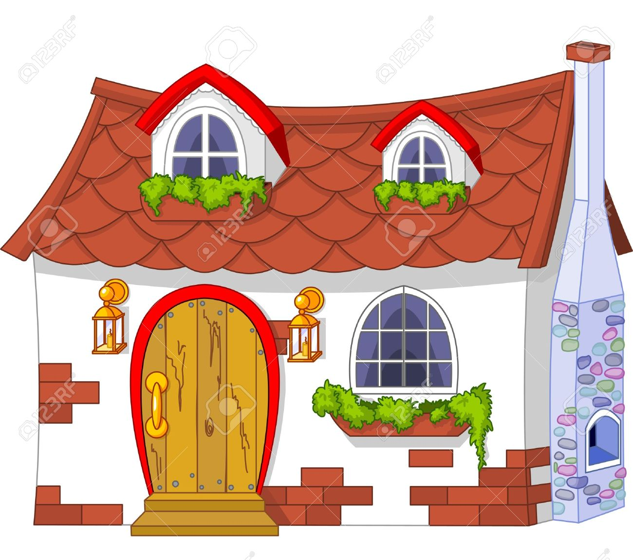 Fine Illustration Of A Cute Little House Royalty Free Cliparts Vectors Largest Home Design Picture Inspirations Pitcheantrous