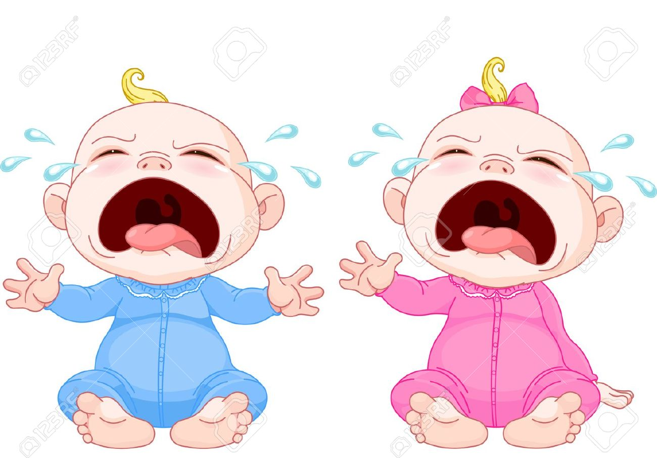 Coloriage Bebe Qui Pleure.Mignon Jumeaux De Bebe Qui Pleure