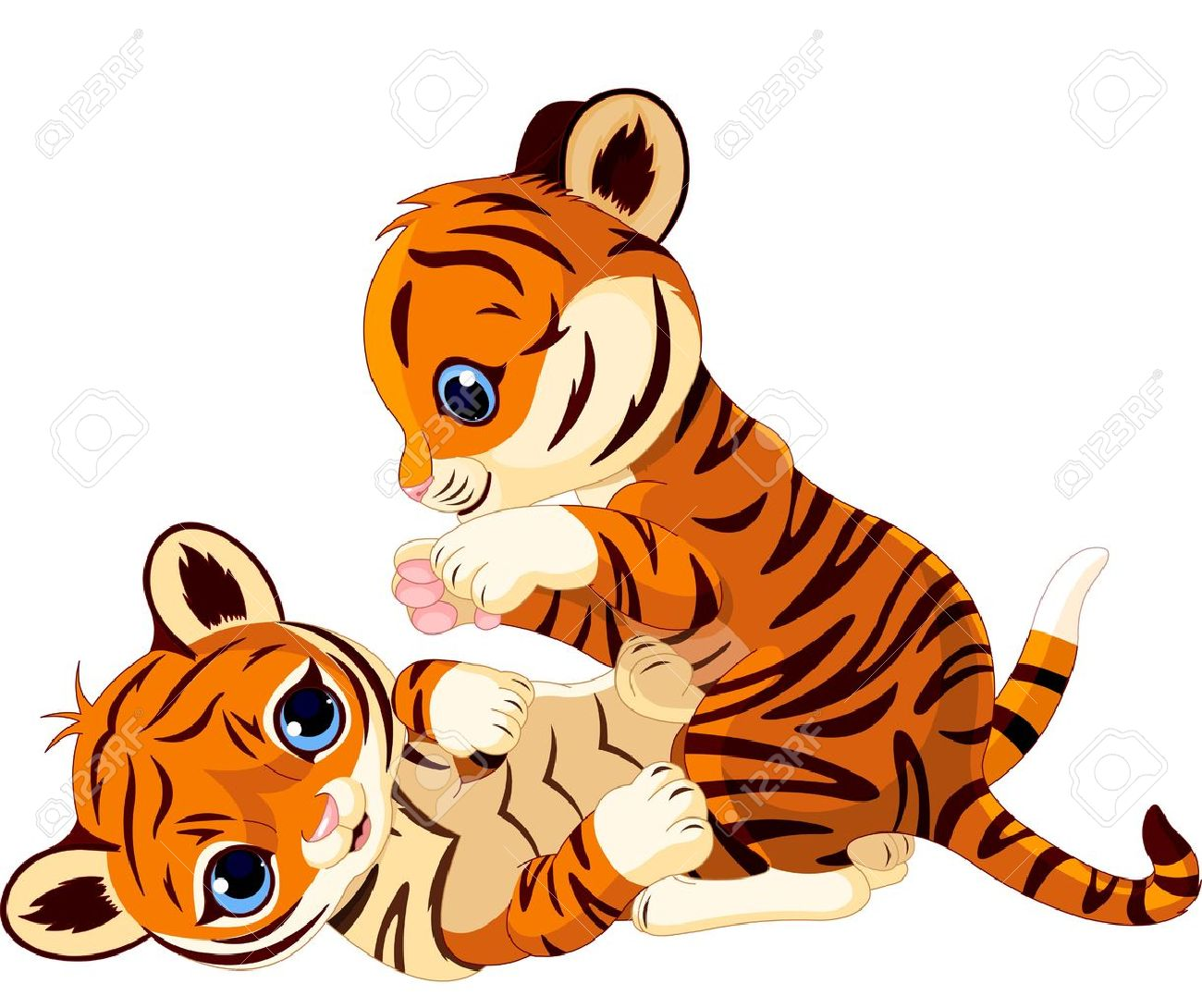 two cute playful tiger cub royalty free cliparts vectors and stock rh 123rf com tiger cub clipart tiger cub scout clipart