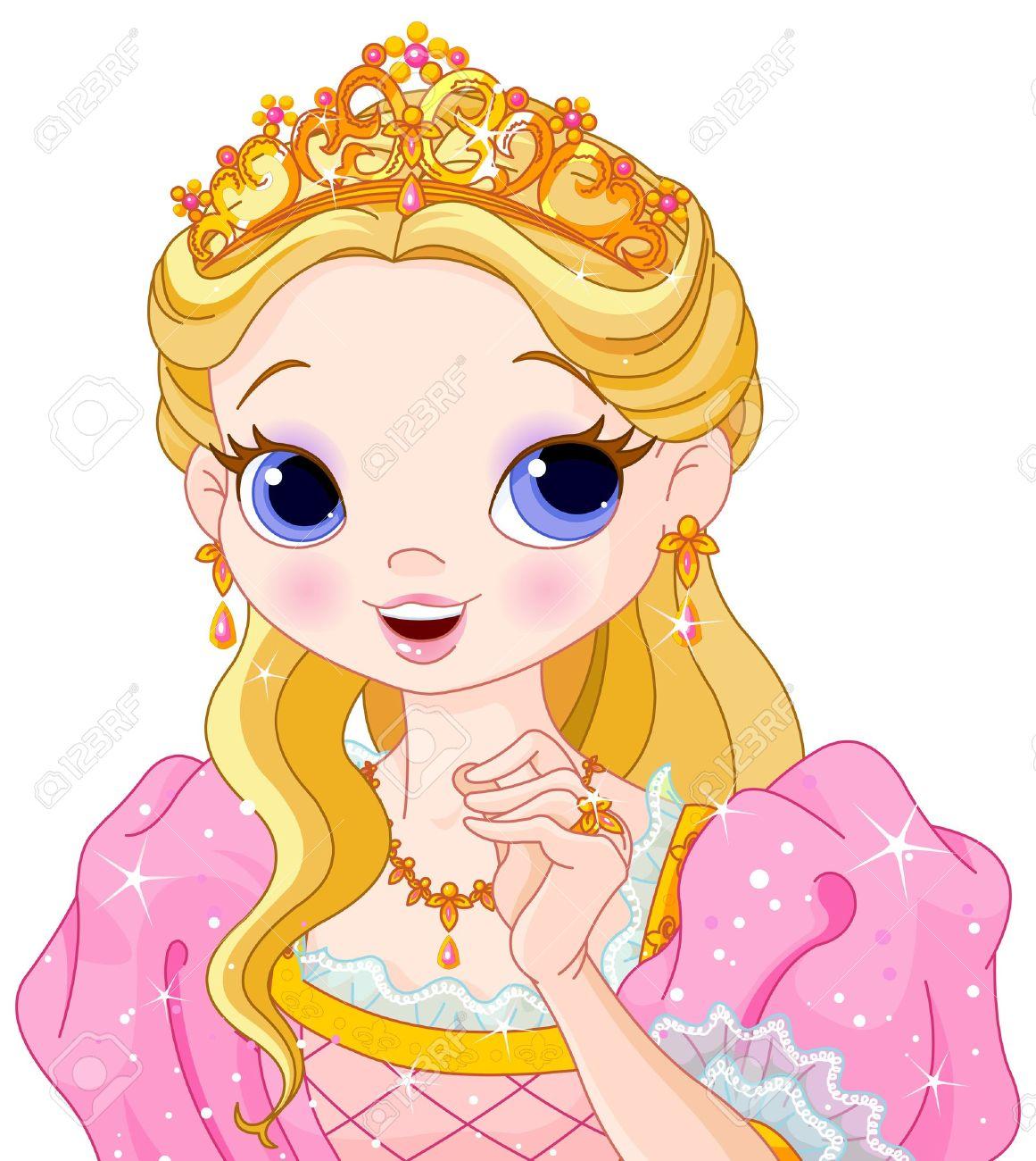 Illustration of beautiful fairytale princess - 19095819