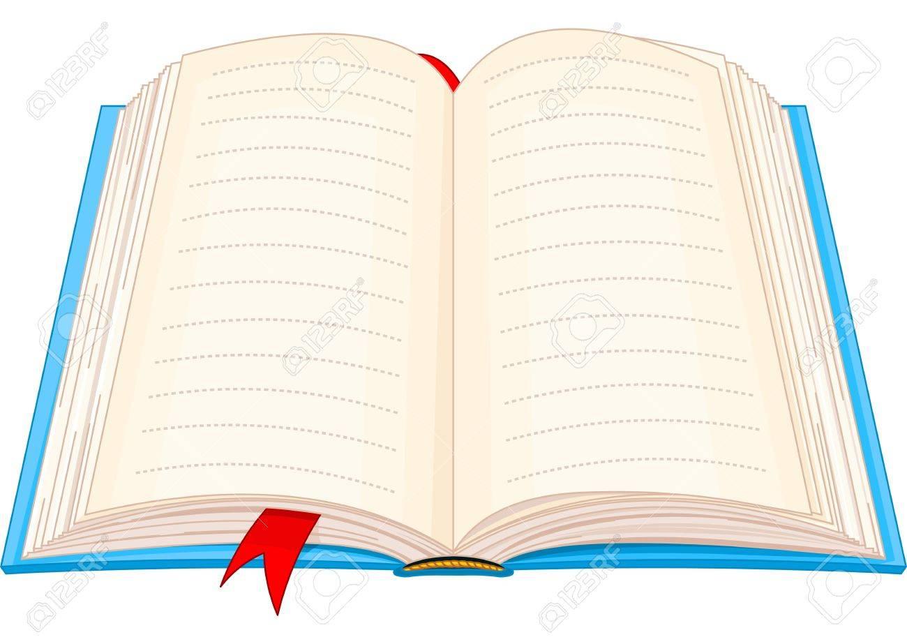 開いた本のイラストのイラスト素材ベクタ Image 19296041