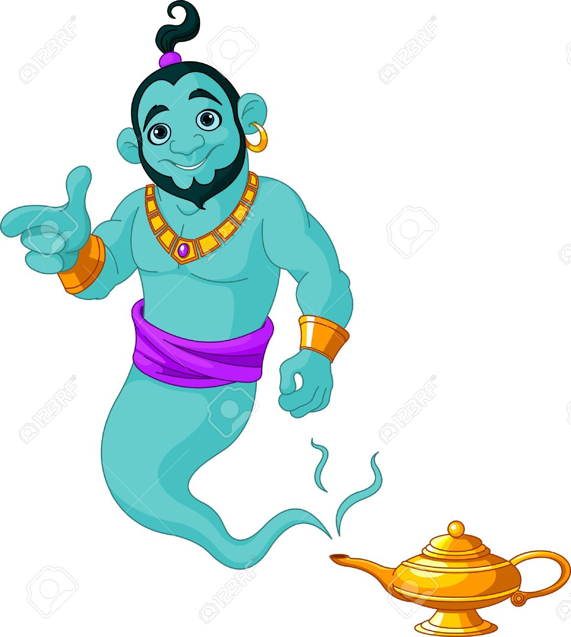 Genie lamp stock photos pictures royalty free genie - Genie Lamp Genie Appear From Magic Lamp