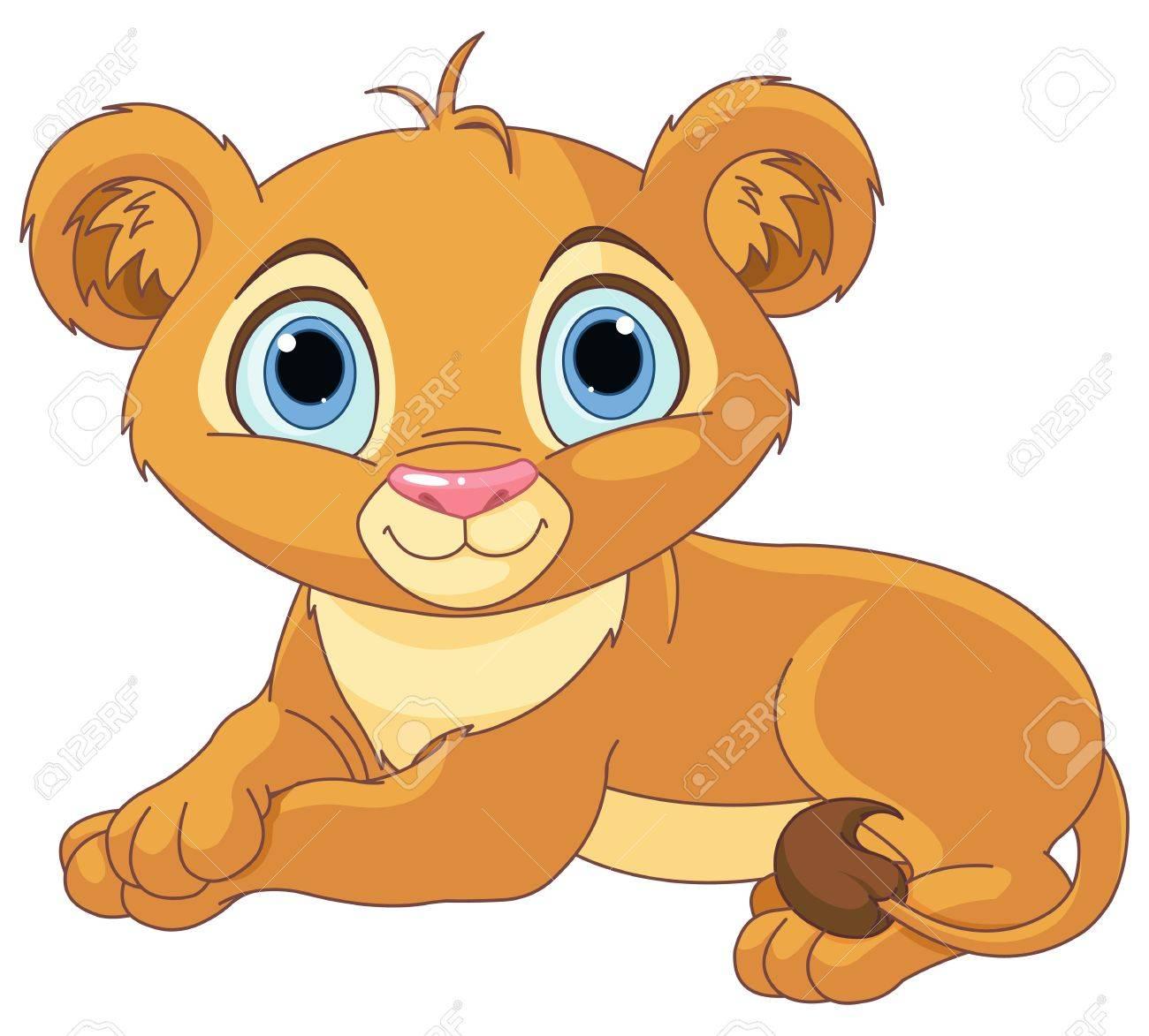 image of resting little lion cub royalty free cliparts vectors and rh 123rf com free lion cub clipart lion cub scout clipart