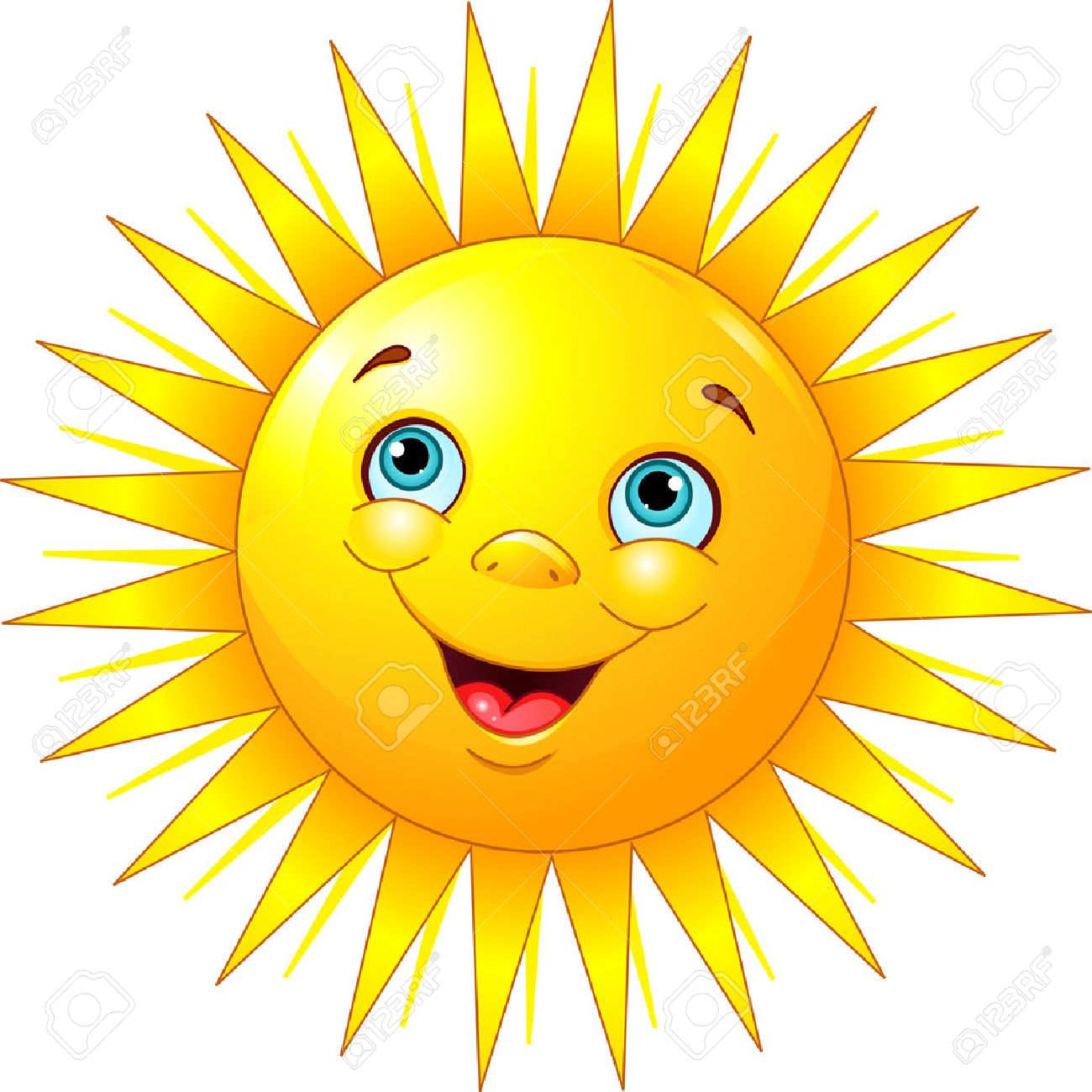 illustration of smiling sun character royalty free cliparts vectors rh 123rf com free clip art sun free clip art sunday school