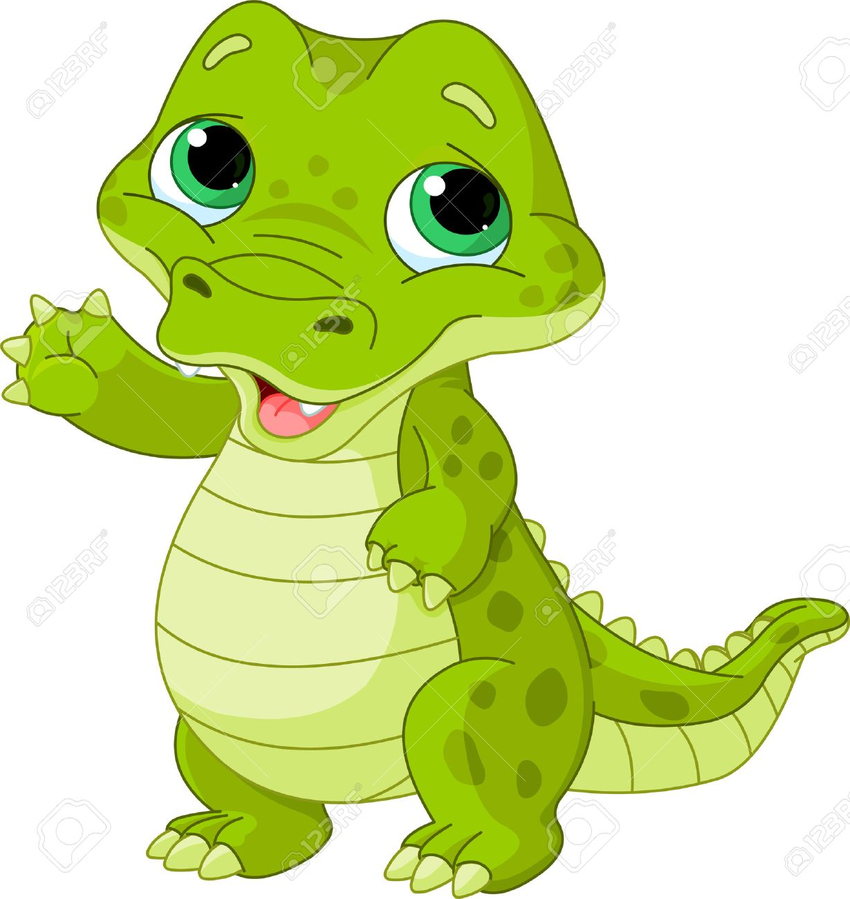 Illustration Of Very Cute Baby Alligator Royalty Free Cliparts