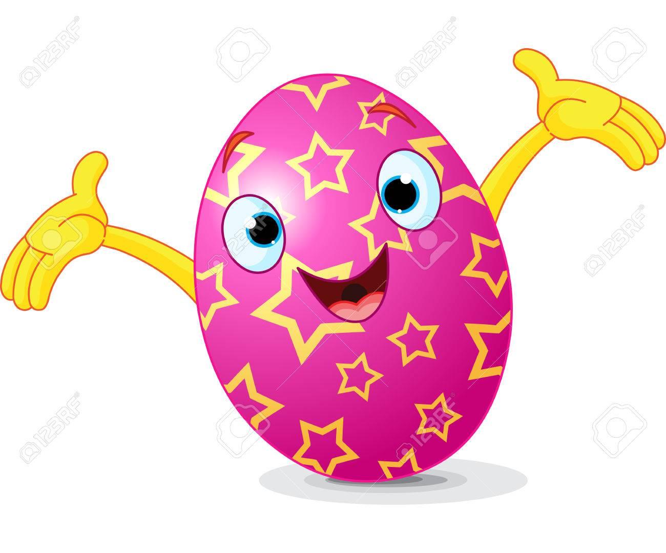 cartoon cute easter egg presenting royalty free cliparts vectors