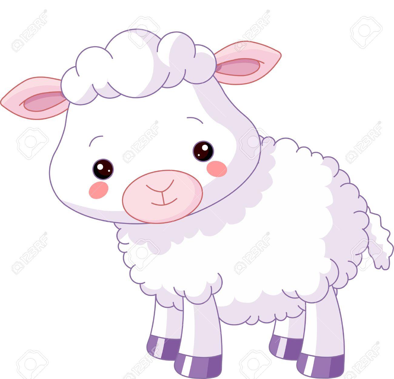 Baby Farm Animals Clip Art farm animals. illustration of cute lamb royalty free cliparts