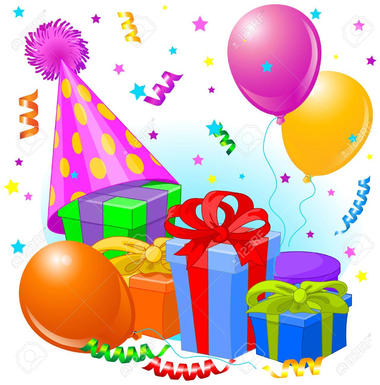 Regalos De Cumpleaños Y Decoración Listo Para La Fiesta De