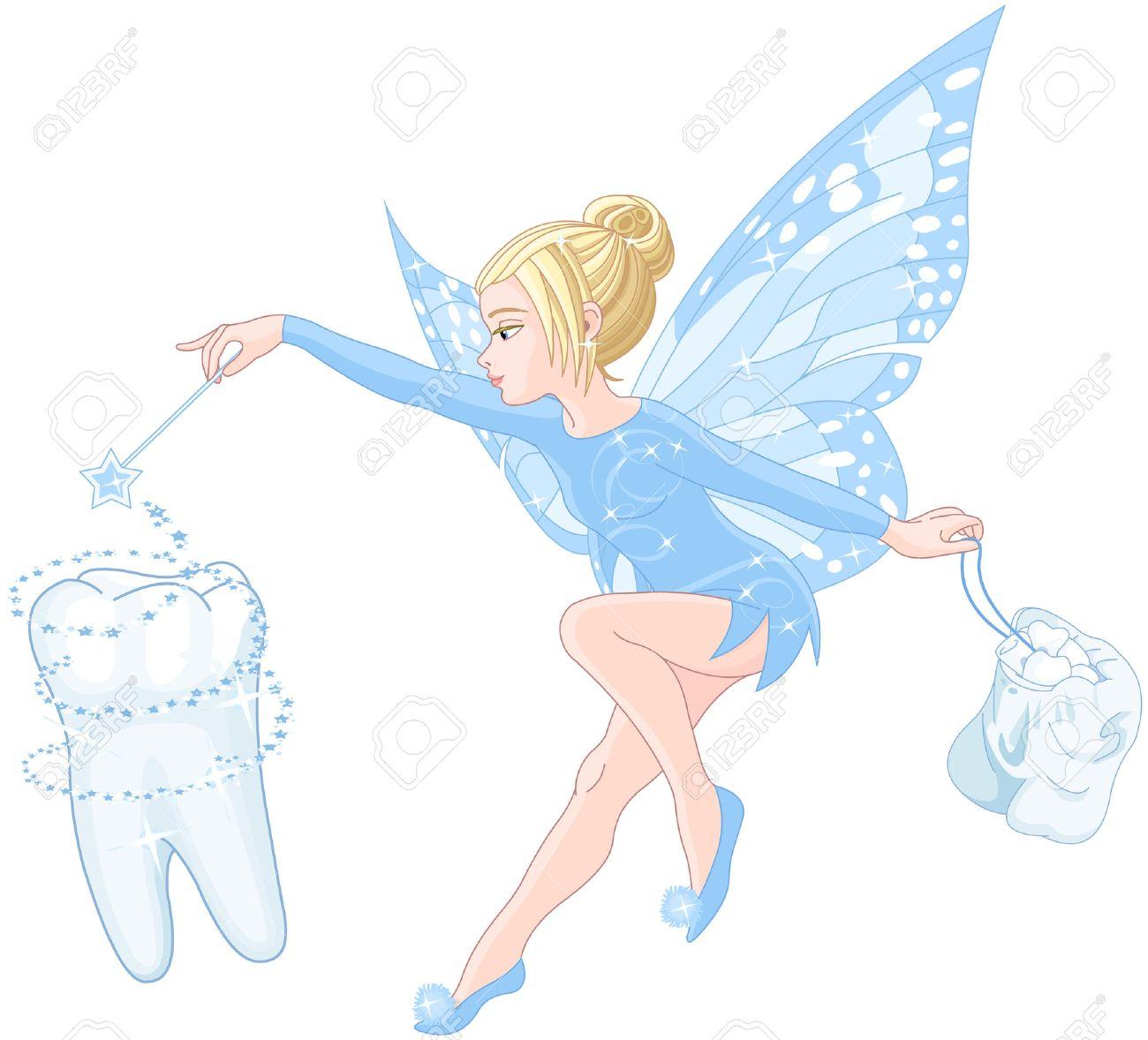 笑顔のかわいい歯の妖精のイラスト ロイヤリティフリークリップアート