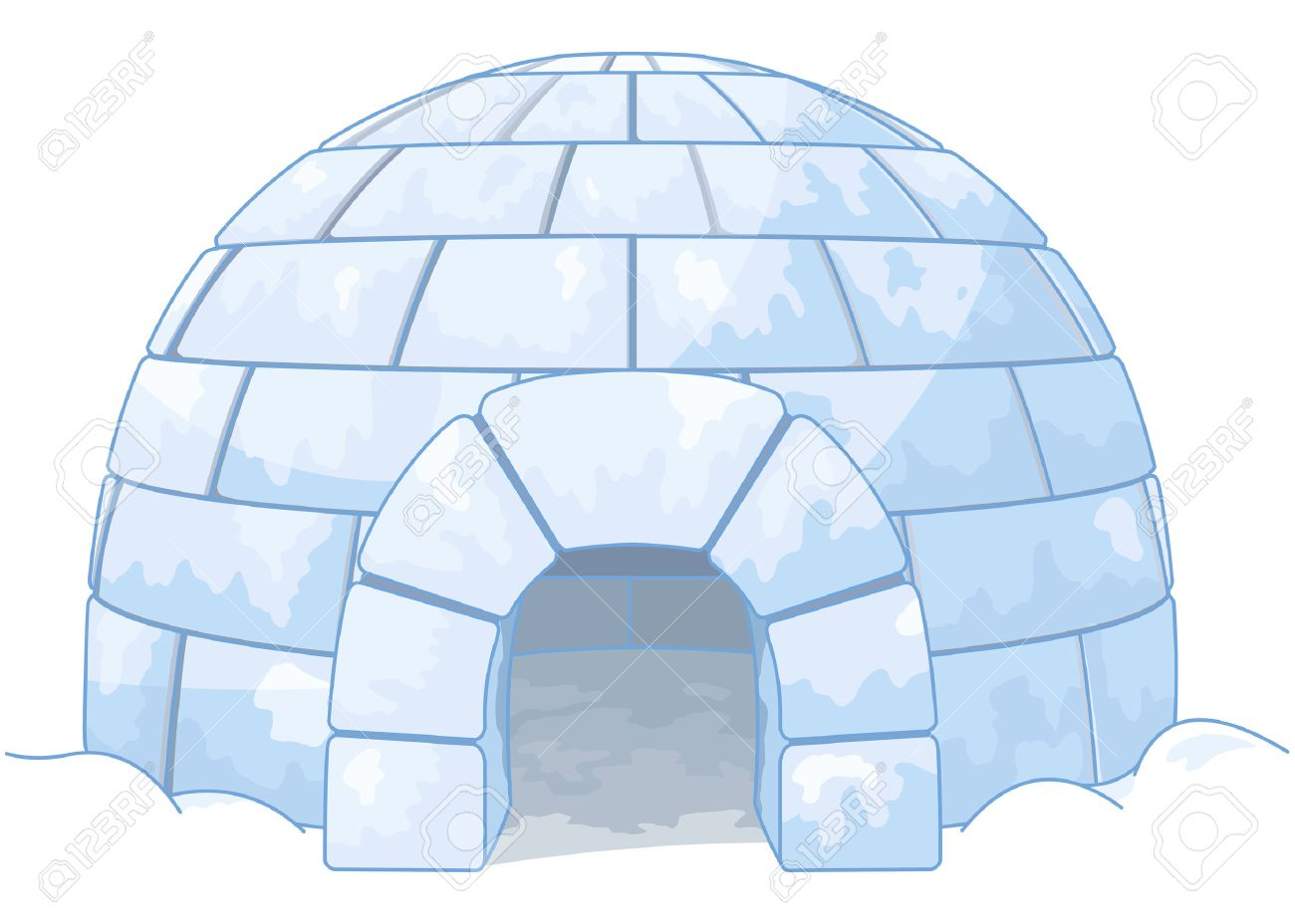 illustration of an igloo royalty free cliparts vectors and stock