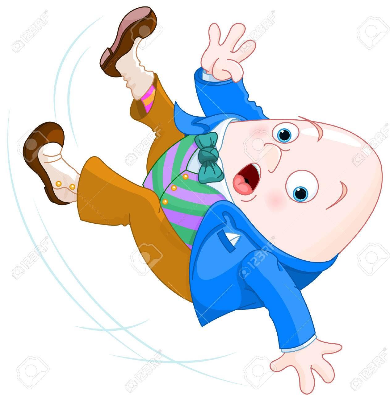 Humpty Dumpty tombe Banque d'images - 48863916