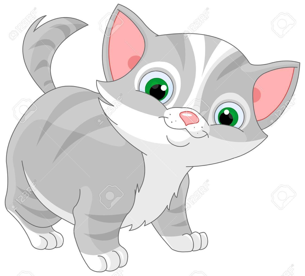 縞模様の子猫のイラストのイラスト素材 ベクタ Image 52186899