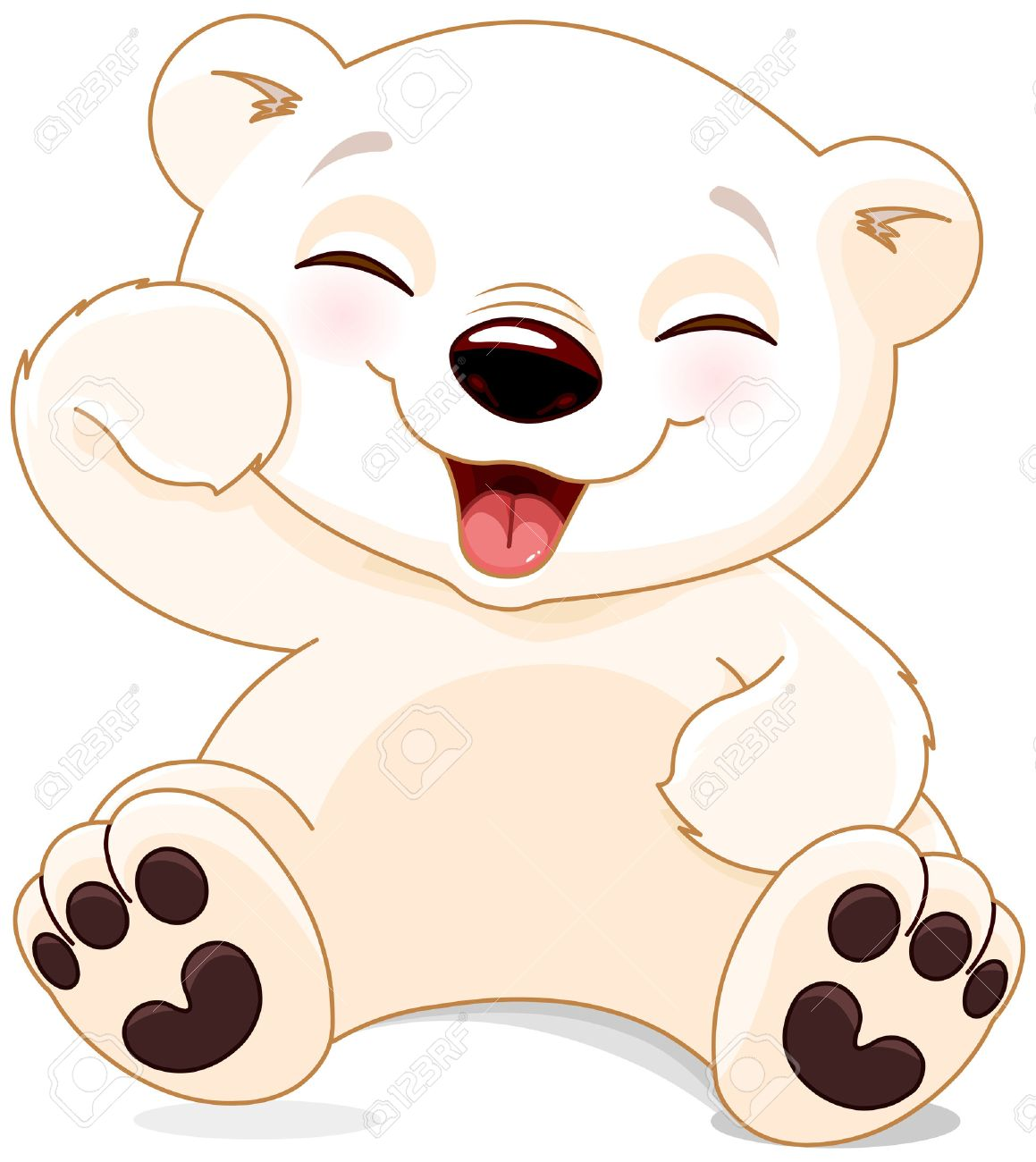illustration of cute polar bear is laughing royalty free cliparts rh 123rf com cute baby bear clipart cute bear clip art free