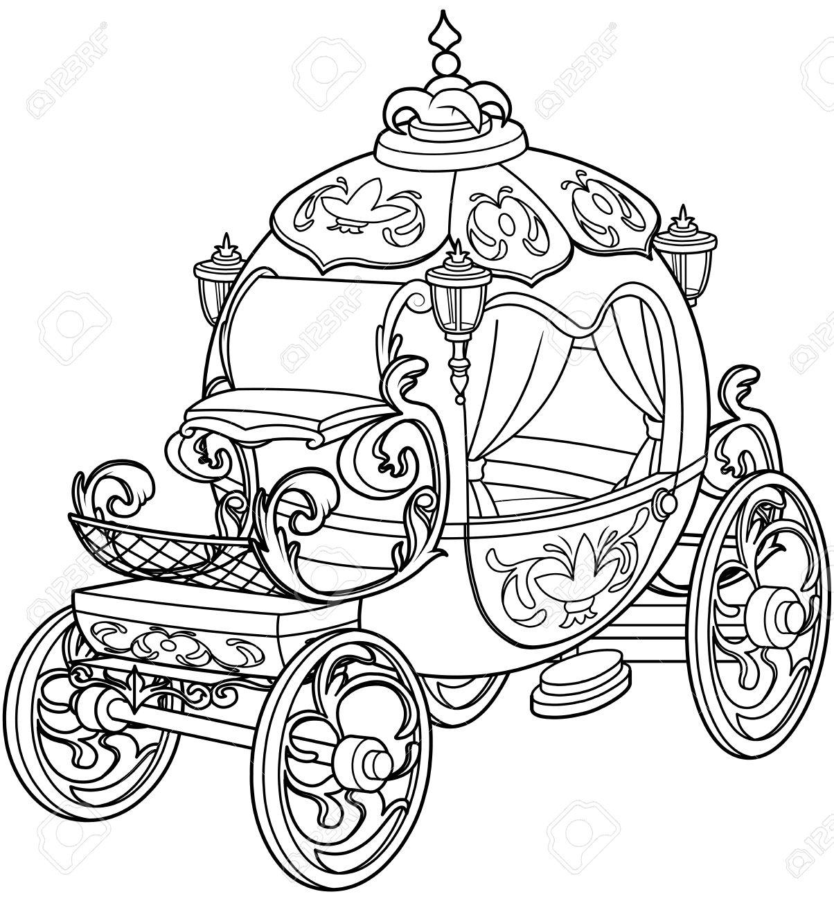 Cinderella Märchenkürbiswagen Malvorlagen Lizenzfrei Nutzbare