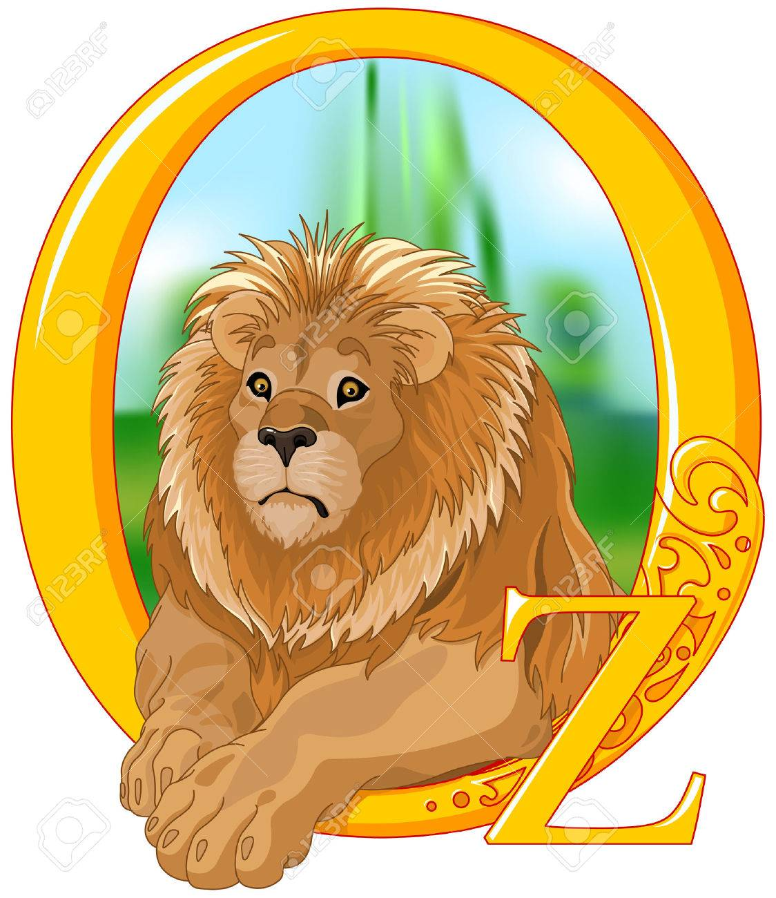 可愛いライオンのイラストです イラストのオズの魔法使いのイラスト