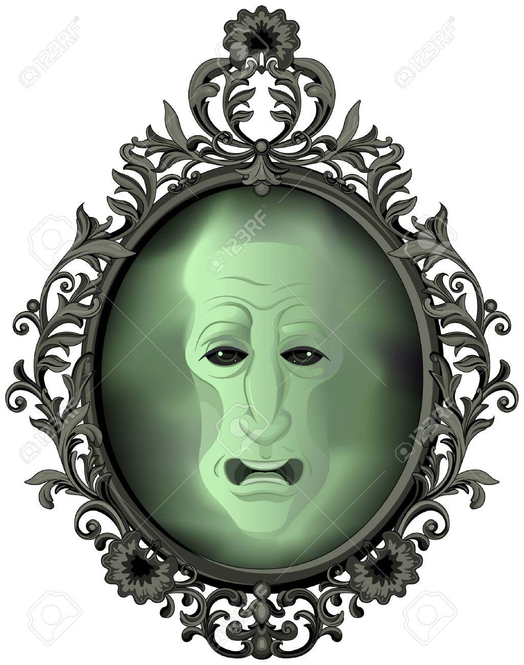 The Magic Mirror On The Wall Royalty Free Cliparts Vectors And
