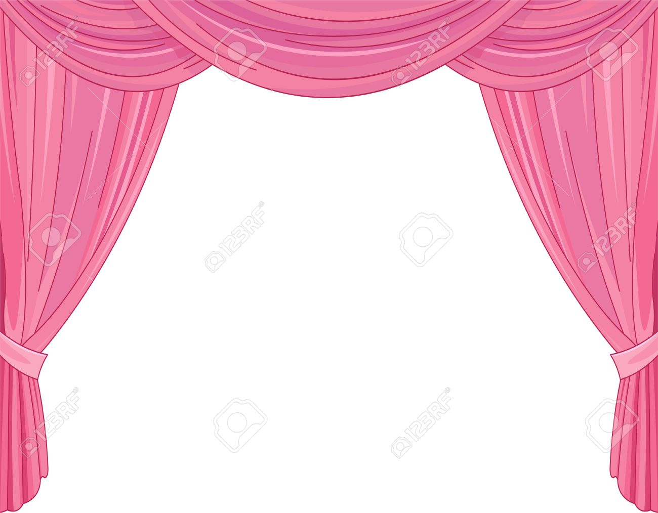 Royalty free or white curtain background drapes royalty free stock - Pink Curtains On A White Background Stock Vector 80789055