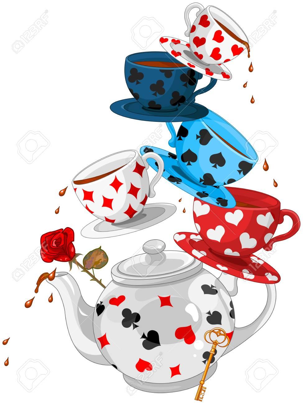 Wonderland Mad Tea Party Pyramid - 87950547