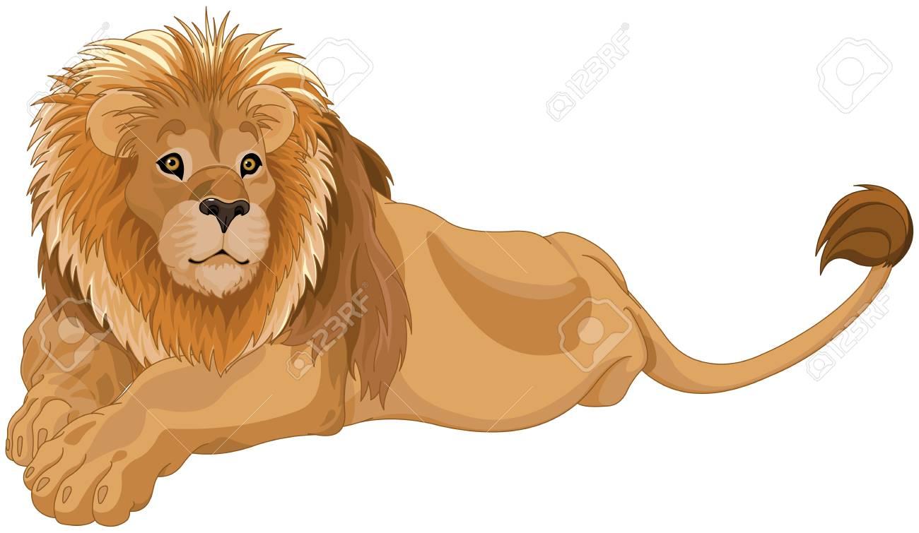 豪華なライオンのイラストのイラスト素材ベクタ Image 88526293
