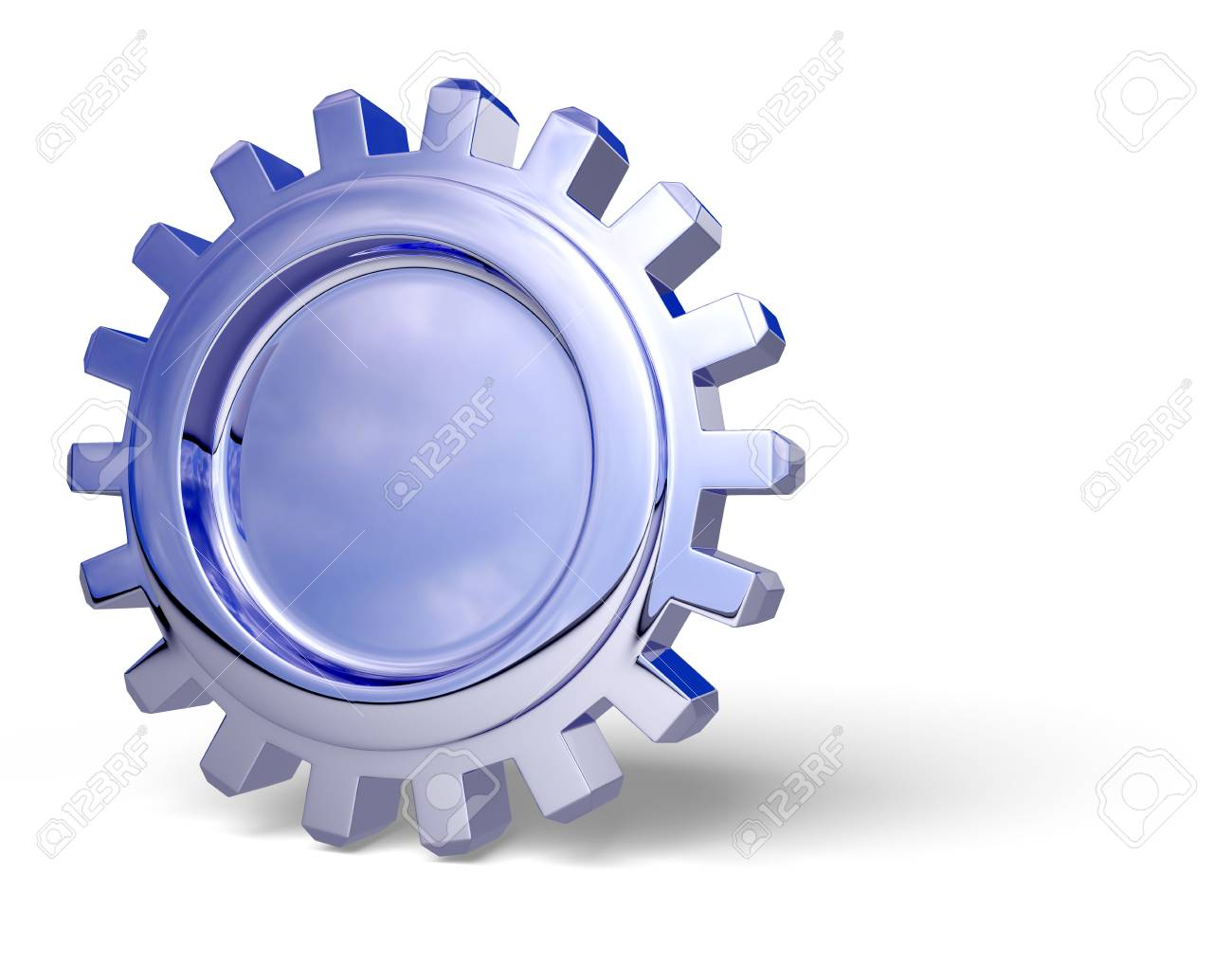 Nice reflection on a gear with shadow on white. Easy to isolate. Stock Photo - 3500328