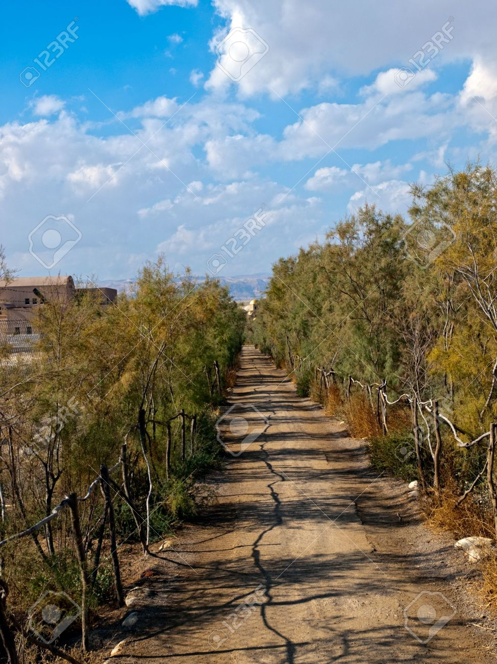 approaching path to the baptism site in bethany jordan place