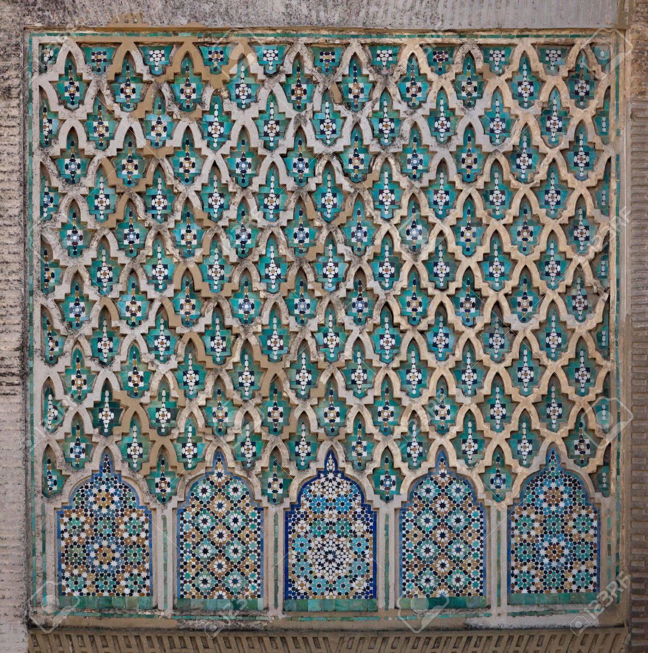 Bab Mansour El Alj Gate. Wall detail. Old city Meknes (Miknasa), Morocco. - 9228299