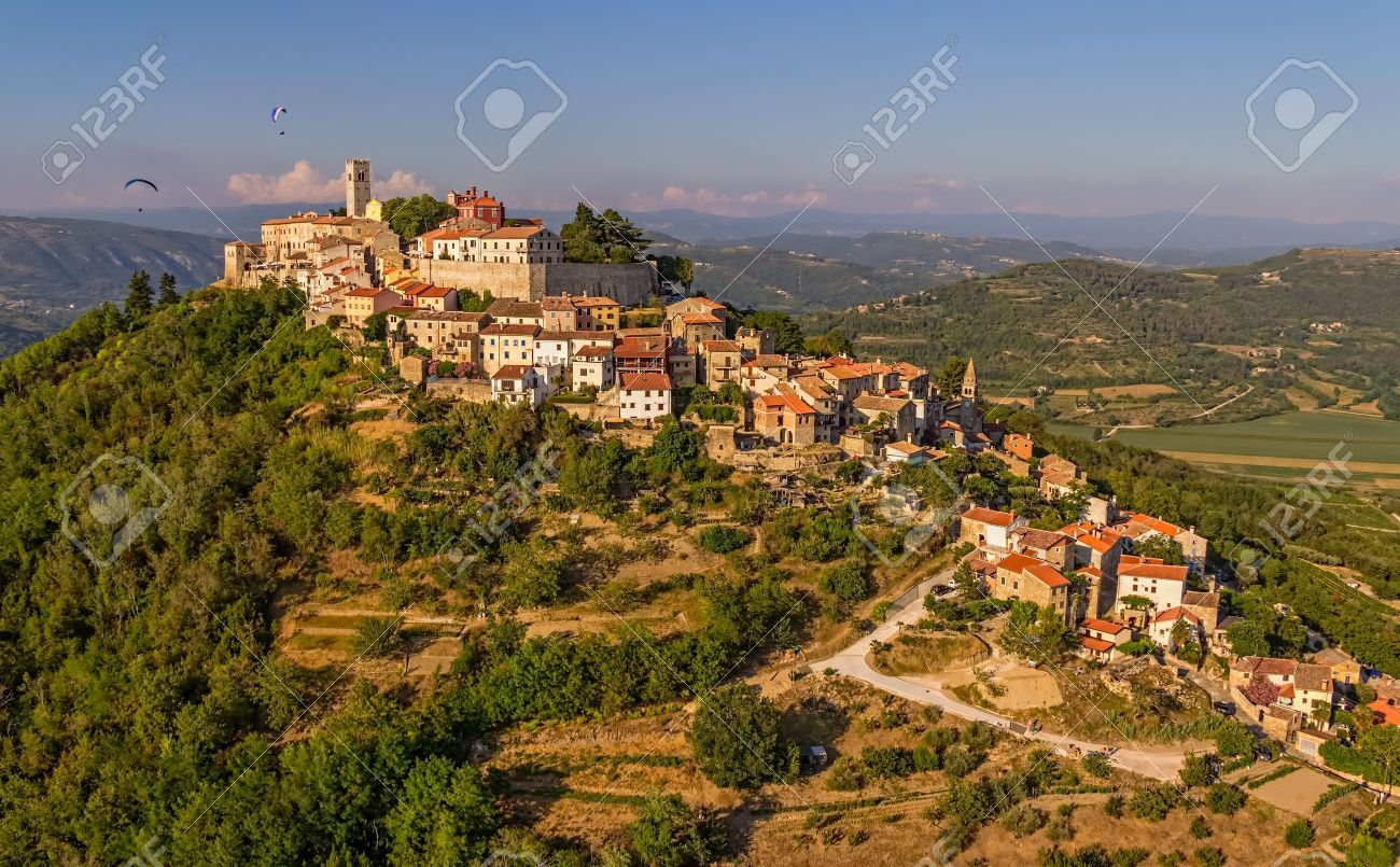 Motovun is a small village in central Istria (Istra), Croatia. City containing elements of Romanesque, Gothic and Renaissance styles. - 16852266