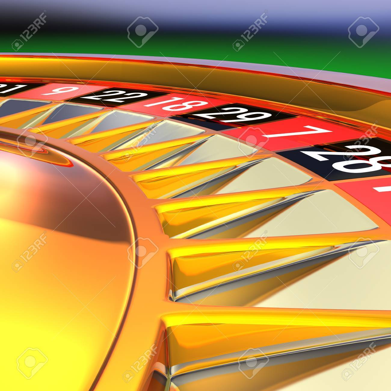 Golden roulette detail 3D rendering illustration. Photo - Realistic rendering. Stock Photo - 18362880