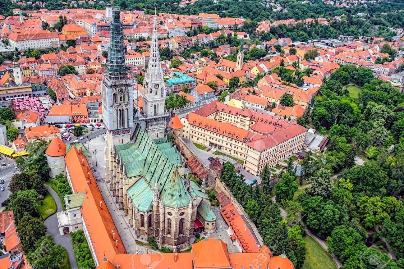 Zagreb Cathedral with Archbishop - 18809419