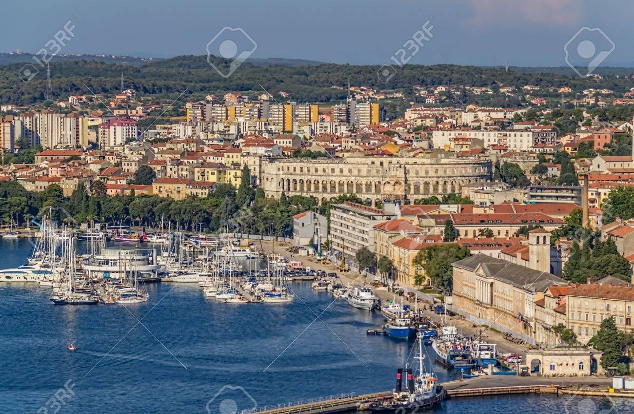 Aerial view of Pula, Istria, Croatia. - 21598103