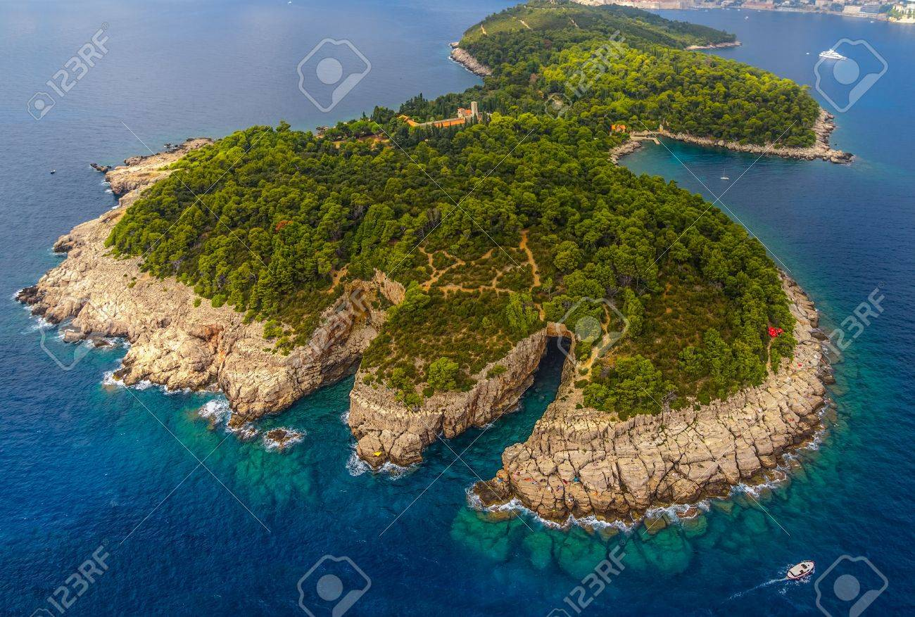 Lokrum Island and nature park near Dubrovnik, Croatia - 21791670