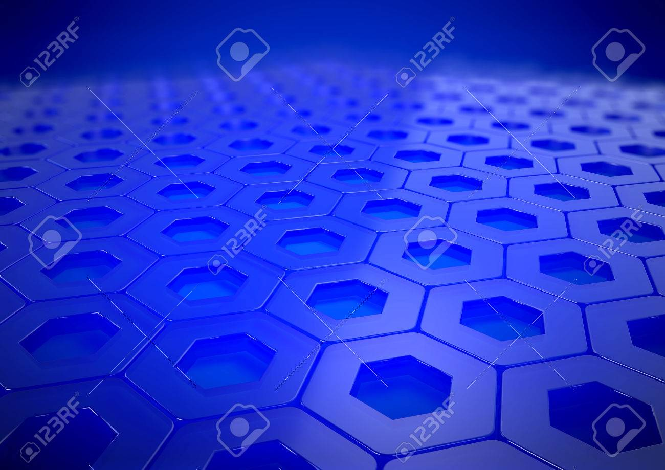 Background image 300 dpi - Abstract Blue Reflective Business Background With Depth Of Field Rendered In A3 300 Dpi Stock