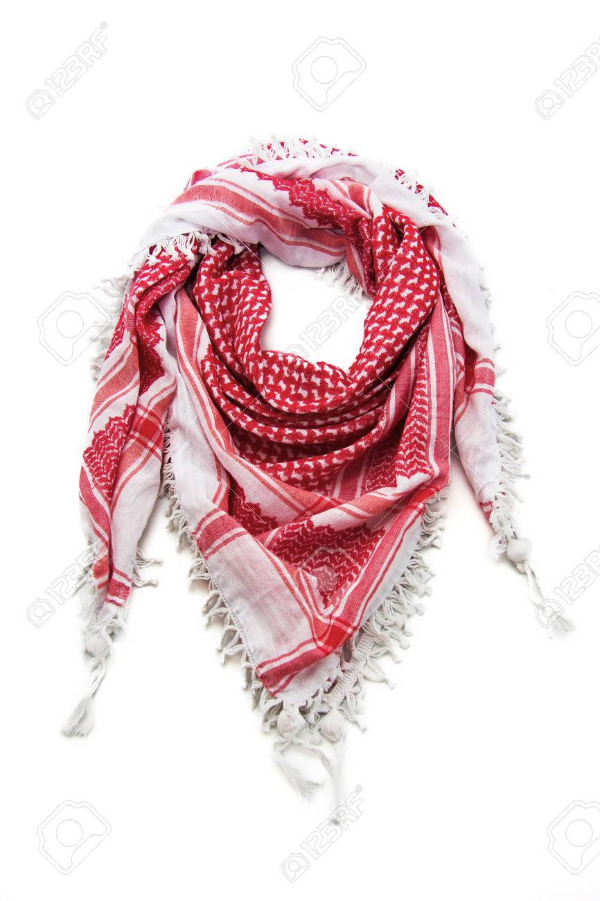 e39e41174 Red Arabic Scarf Isolated On White Background Stock Photo, Picture ...