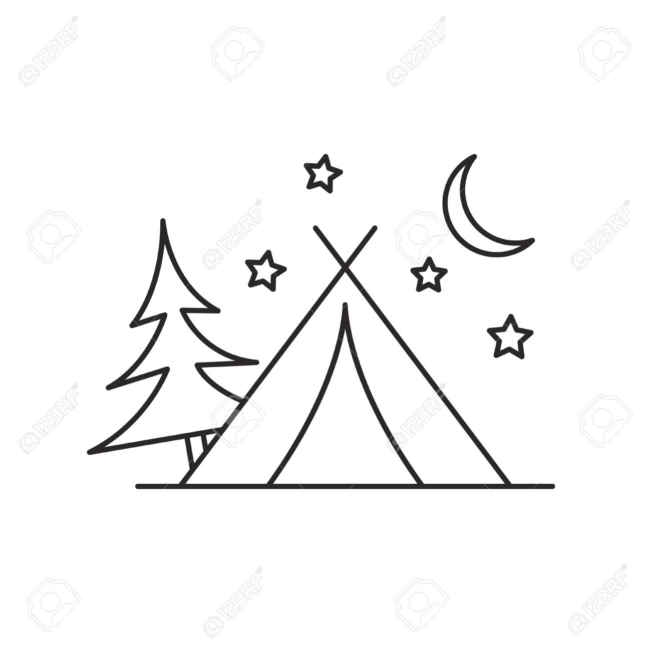 Tent Clipart Black And White - Camping Clip Art Black And White, Cliparts &  Cartoons - Jing.fm