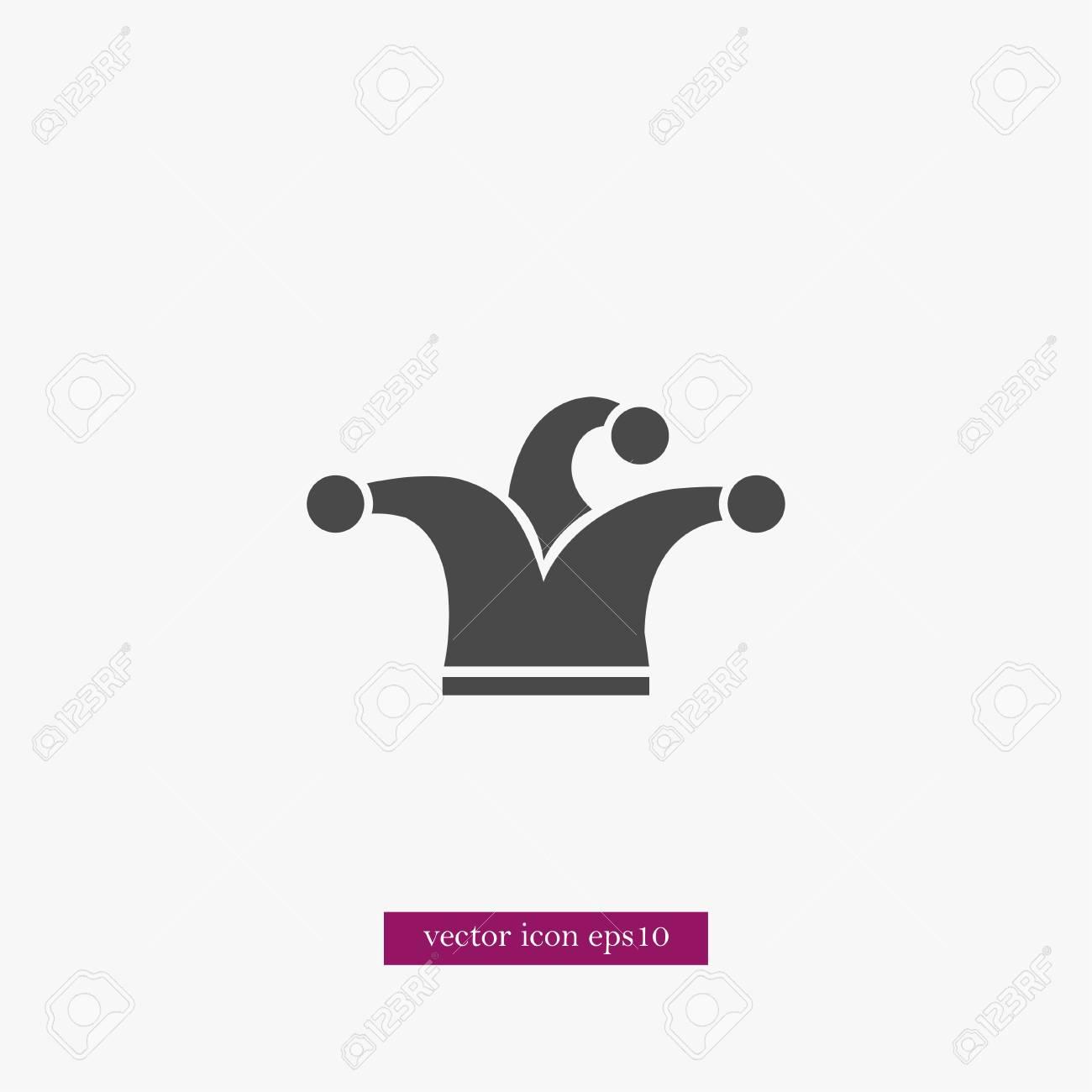 Foto de archivo - Payaso sombrero icono simple partido signo ilustración  vectorial 5337880c693