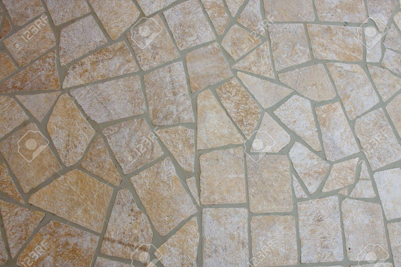 A Patio Of Flat Stones And Mortar For Background And Texture Stock Photo    8802517