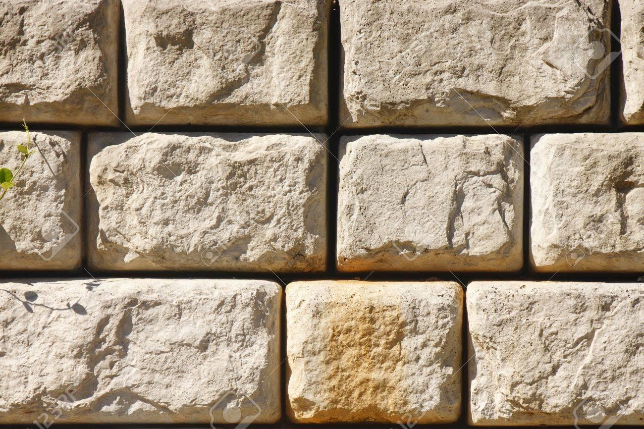 un bloque de piedra muro de contencin para el fondo o texturas foto de archivo