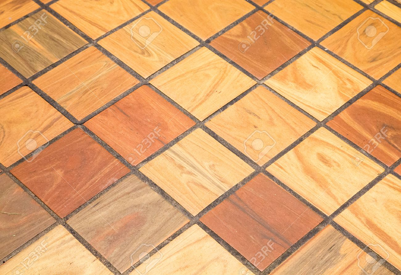 Wood finished quarry tile for background or textures