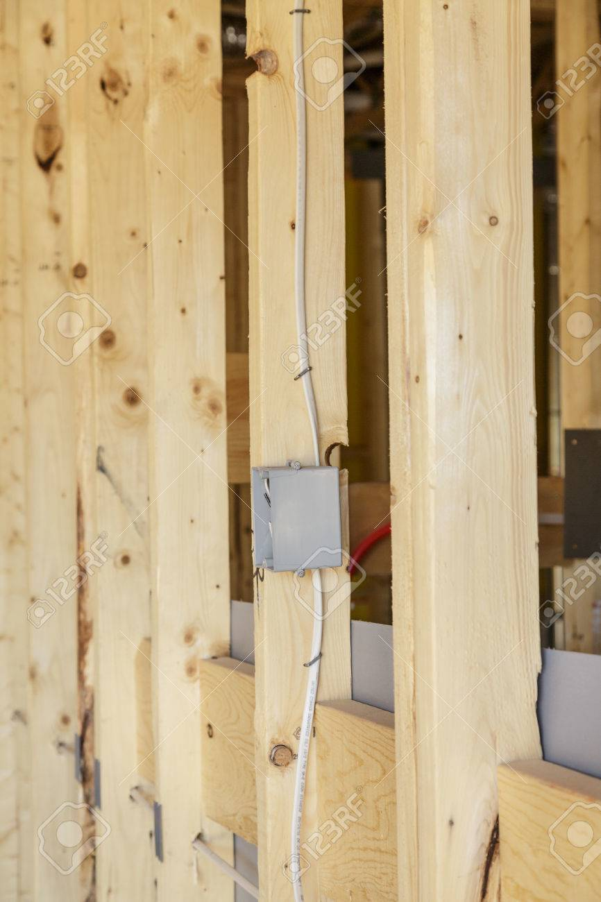 Electrical Wiring And Switch Box In New Home Construction Stock For Photo 83885359