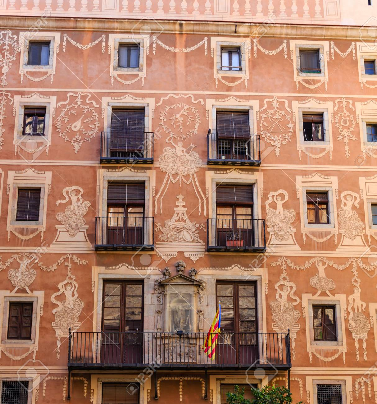 Painted Fascia on Spanish Apartment