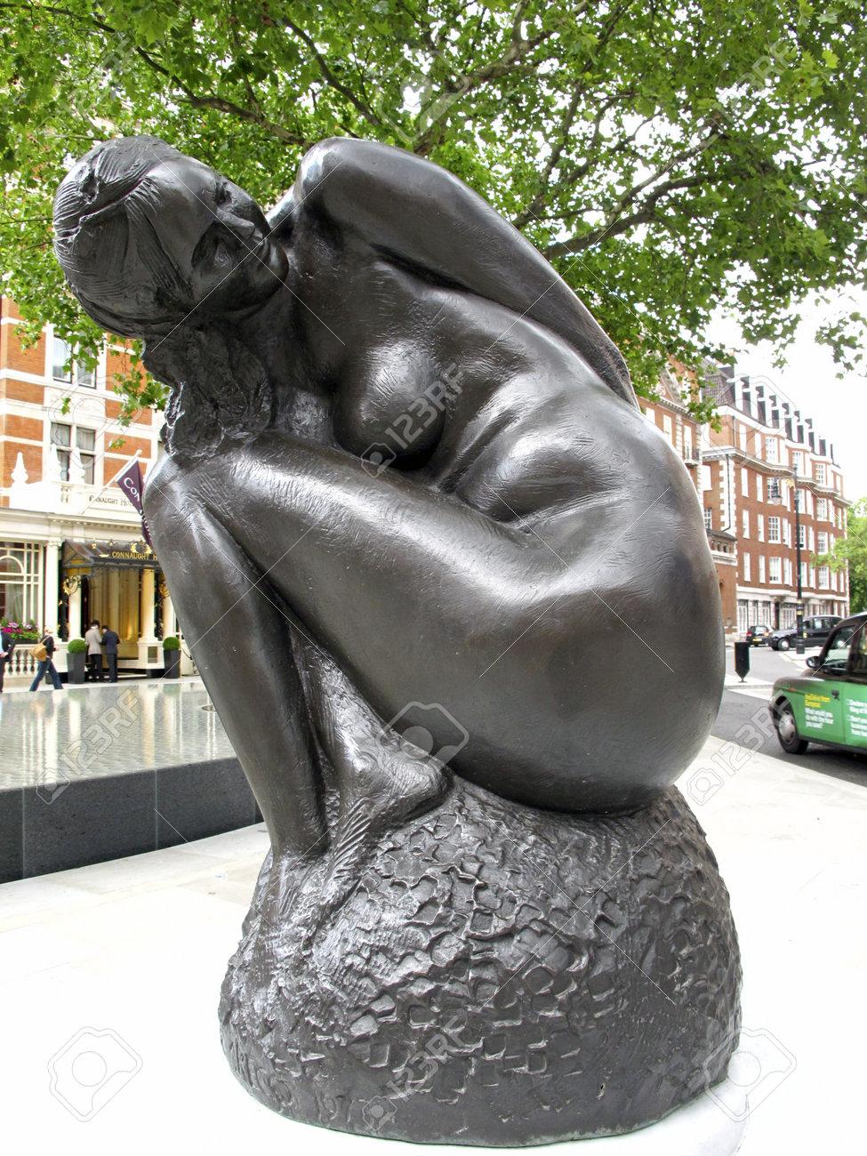 London,Mayfair UK, June 24 2011: Statue by Emilio Greco 1973 Stock Photo - 9890494